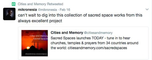 sacred spaces tweet3